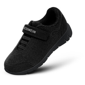 Giesswein Merino Wool Runners Kinderen, black